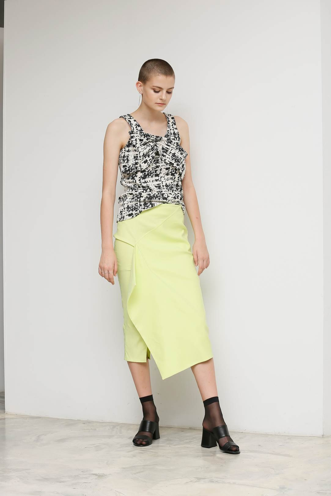 SKIRT_AWPU17SK10_LIME YELLOW
